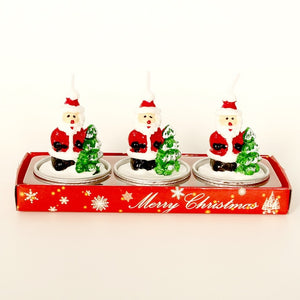 3-Piece set of decorative handmade Christmas Holiday themed tealight Candles - Paul's Mall for All