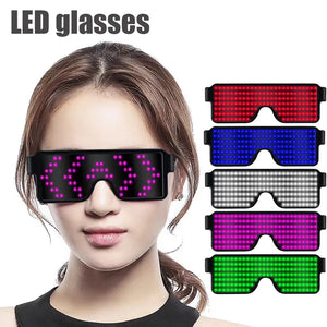 8 Mode Quick Flash Led Party Glasses USB charge - Paul's Mall for All