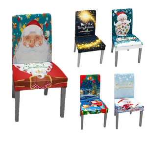 Beautiful Christmas Holiday Themed Chair Covers in 12 different styles - Paul's Mall for All