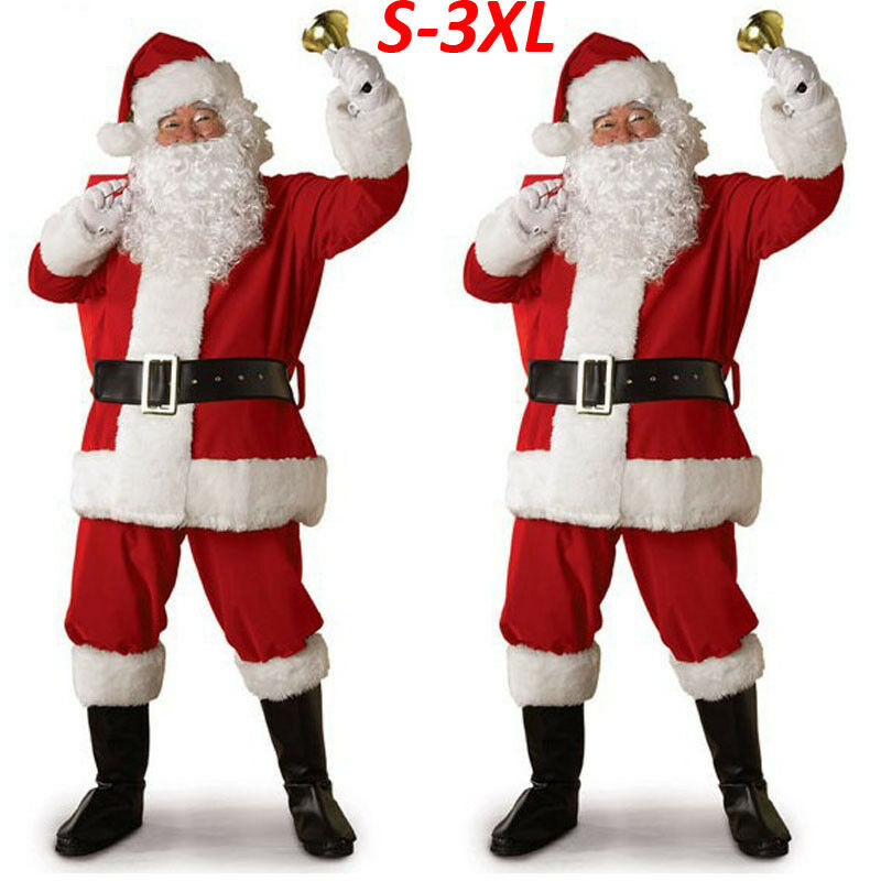 5 Piece Santa Claus Christmas Costume - Paul's Mall for All