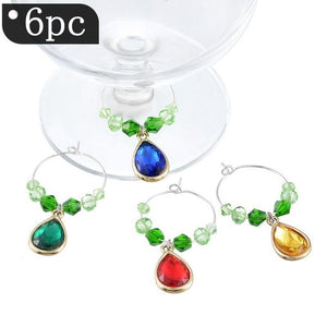 6 piece Christmas Themed Wine Glass Marker Rings, 13 styles to choose from - Paul's Mall for All
