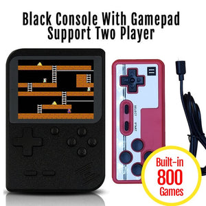 Mini Handheld Retro Video Game Console 3-inch 8-bit screen with 800 Built in Classic Games