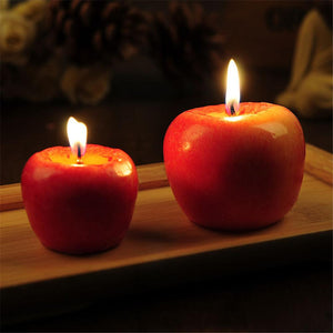 Red Apple Shaped Aromatherapy Decorative Candles - Paul's Mall for All
