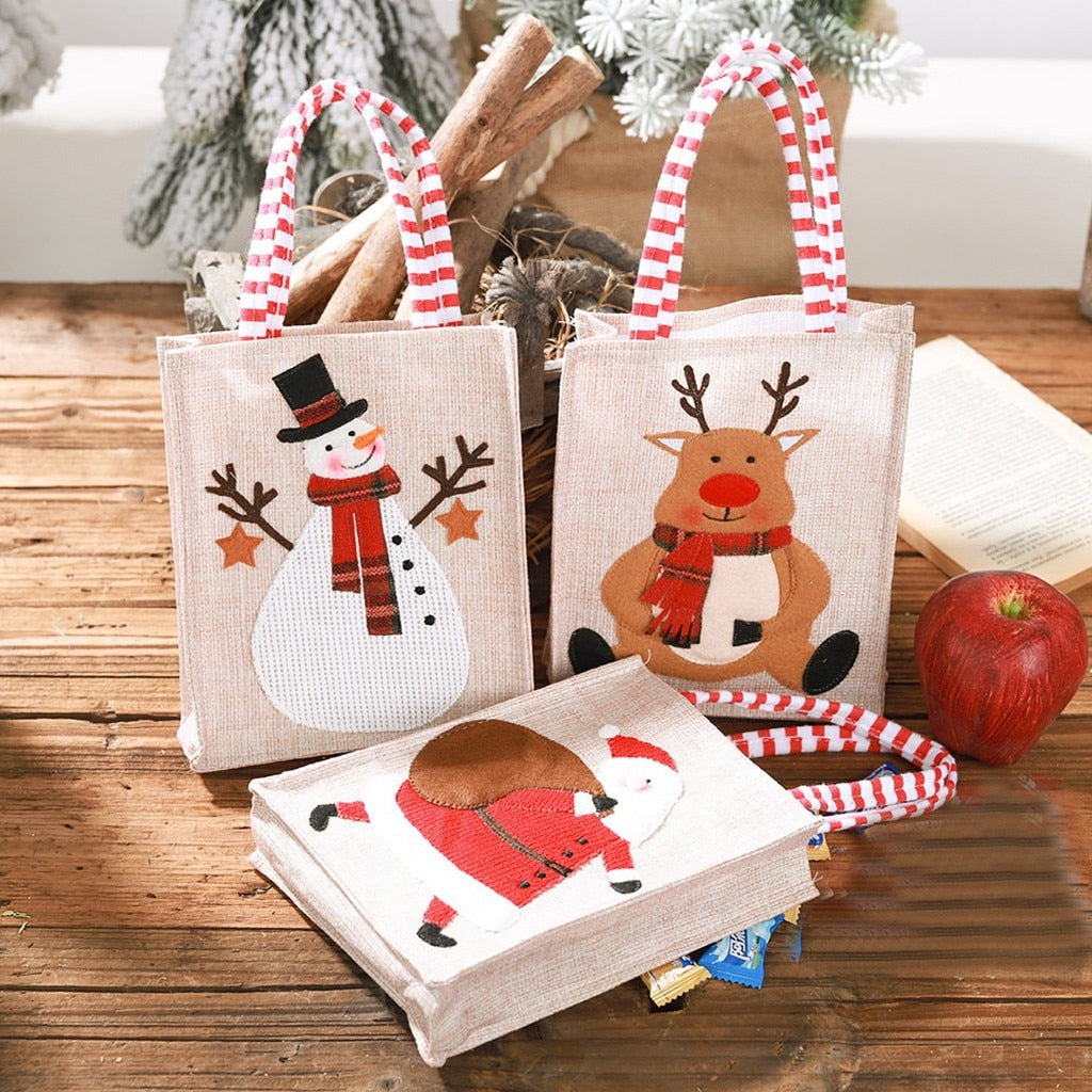 Reusable Christmas Gift Cloth Handbag in 3 styles - Paul's Mall for All