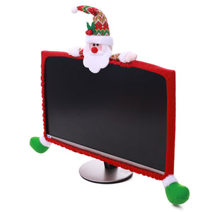 Christmas Holiday Themed Computer Monitor/small TV Cover - Paul's Mall for All