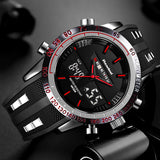 Elegant Multi-Functional LED Dual Display Shock Resistant Men's Luxury Sports Watch - Paul's Mall for All