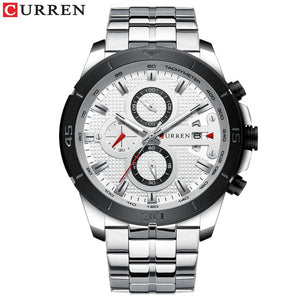 Men's Luxury Quartz Watch with Stainless Steel - Paul's Mall for All