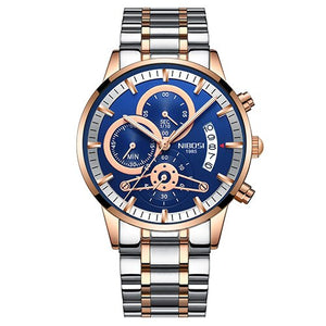 Large Dial Stainless Steel Quartz Men's Watch in multiple styles - Paul's Mall for All