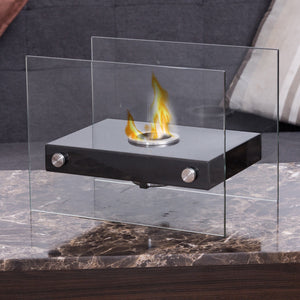 Portable Ventless Firepit Bio Ethanol Tabletop Fireplace - Paul's Mall for All