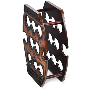 10 Bottle Vintage Wine Display Rack - Paul's Mall for All