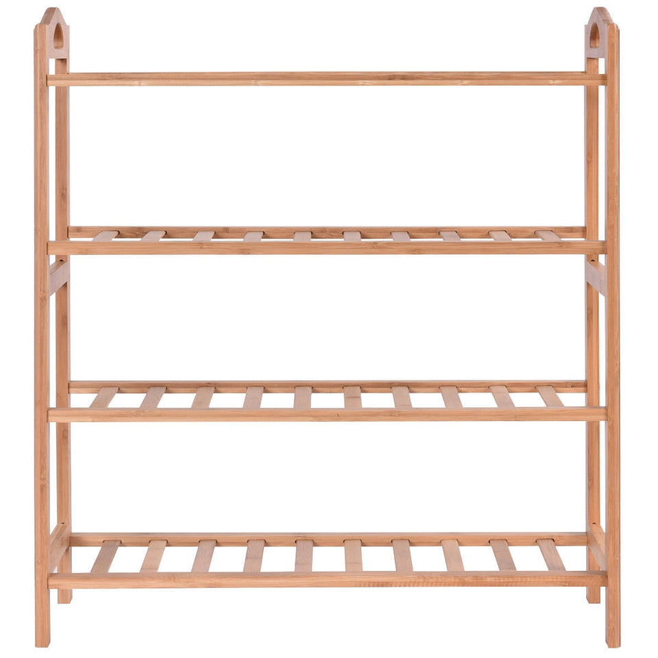 4 Tier Bamboo Shoe Shelf Storage Organizer - Paul's Mall for All