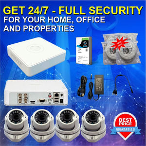 Security System Kit - DVR + 4 Cameras