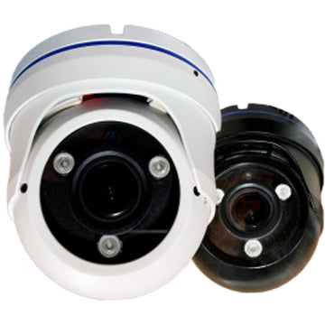 2MP 1080 HD Analog CCTV Dome Camera 4 in 1 (TVI-AHD-CVI-CVBS) 2.8 - 12mm Varifocal - Smart IR