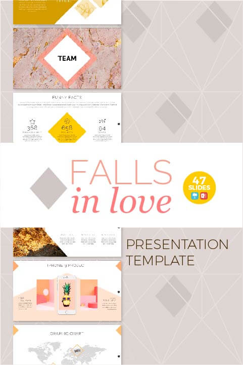 Plantilla Falls in love