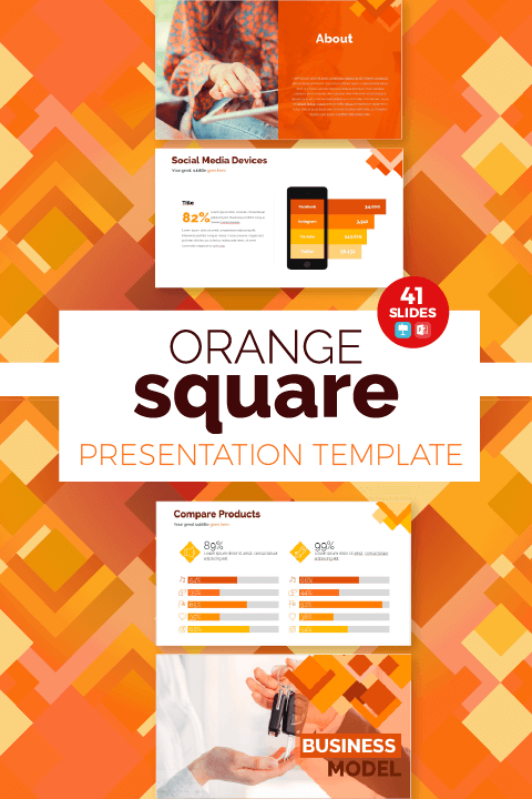 Plantilla Orange Square