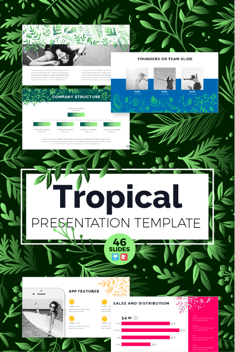 Plantilla Tropical