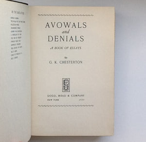 Avowals And Denials