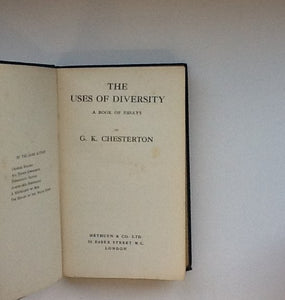 The Uses of Diversity (a book of Essays)