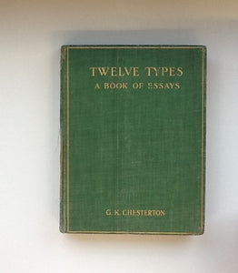 Twelve Types ( a Book of Essays)