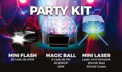 KIT FIESTA FLASH + MAGIC BALL + LASER SONIC