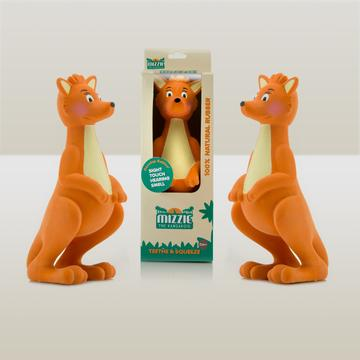 Three Mizzie the Kangaroo Baby Teething Toys