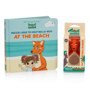 'mini Reader Gift Set' - Baby Board Book Gift Set with mini Mizzie Teether