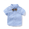 Newborn Baby Blue Shirt Top and Shorts  Outfits