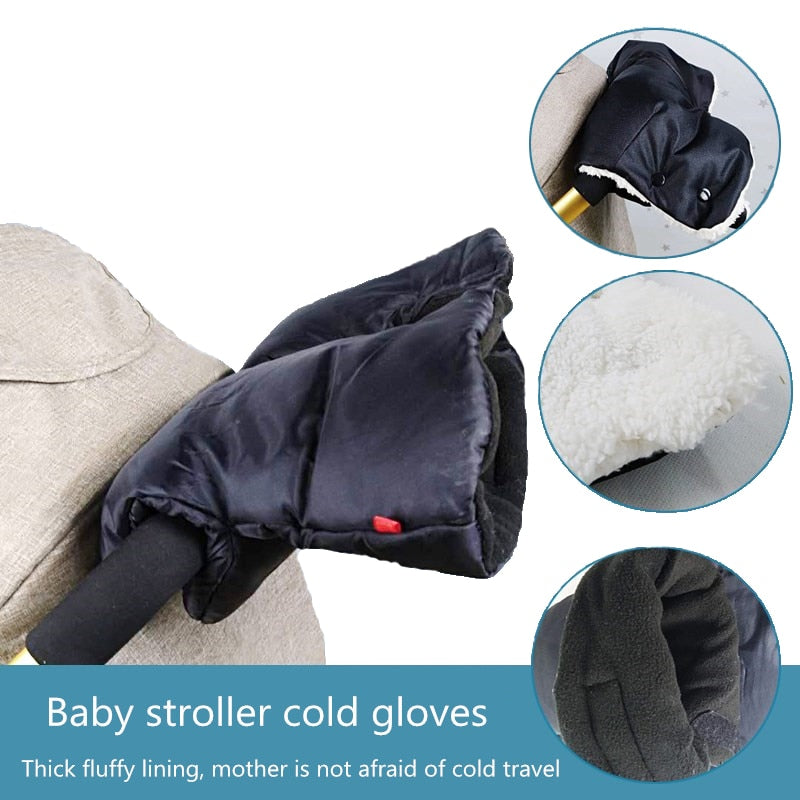 Winter Baby Stroller Pram Hand Gloves