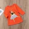 Animal Cartoon Casual Dress for Baby Girls