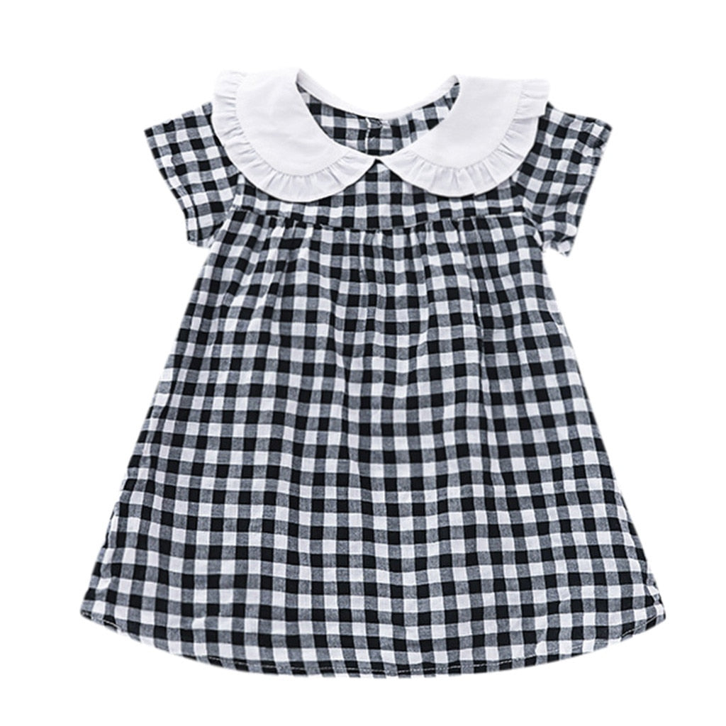 Fashion Sleeveless Floral Bow Dress for Baby Girls