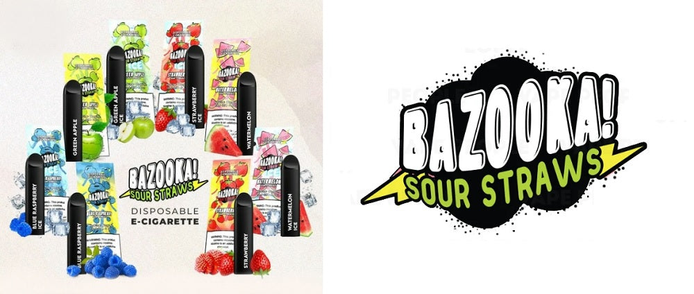 Bazooka Sour Straws Disposable Vape Device