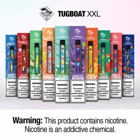 TUGBOAT XXL VAPE DISPOSABLE PODS (2500 Puffs)
