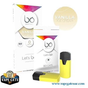 BO Caps Pods Vanilla Ice Cream by BO Vaping Abu Dhabi Dubai UAE, Dubai Expo 2020