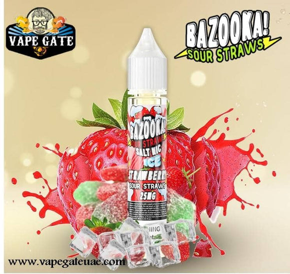 Bazooka Strawberry Ice 30ml Saltnic Dubai Abu Dhabi Ras AL Khaima UAE