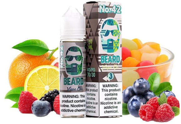 No 42 60ml Eliquid by Beard Vape available in Dubai Abu Dhabi UAE online store