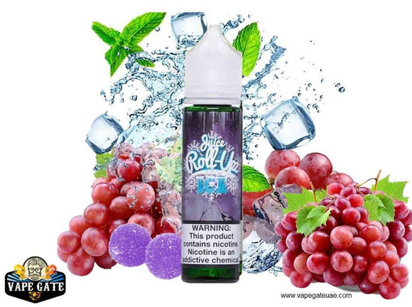 Grape Ice - Juice Roll Upz - 3 mg / 60 ml - E-LIQUIDS - UAE - KSA - Abu Dhabi - Dubai - RAK 1