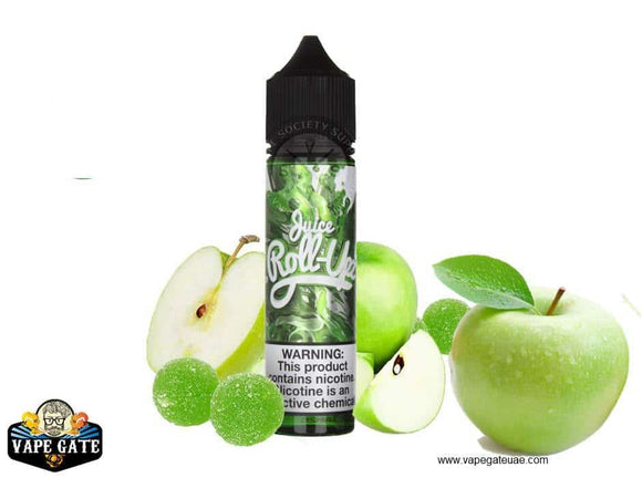 Green Apple - Juice Roll Upz - 3 mg / 60 ml - E-LIQUIDS - UAE - KSA - Abu Dhabi - Dubai - RAK 1