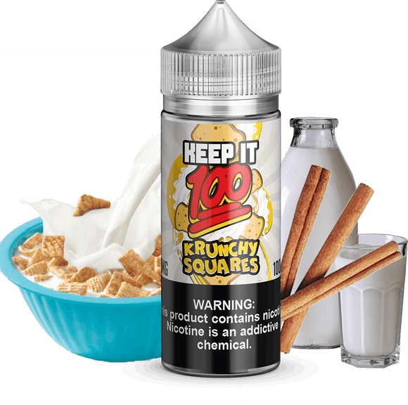 Krunchy Squares 100ml E Liquid by Keep It 100 - E-LIQUIDS - UAE - KSA - Abu Dhabi - Dubai - RAK 1