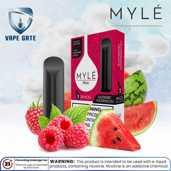 Myle Mini  Raspberry Watermelon Disposable Pods Abu Dhabi Dubai Al Ain Ajman Fujairah