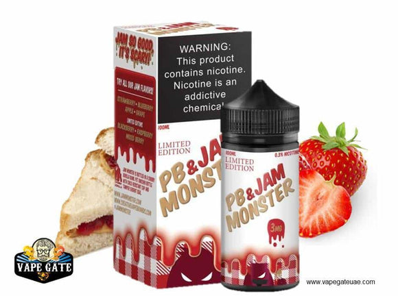 PB and JAM STRAWBERRY - MONSTER - E-LIQUIDS - UAE - KSA - Abu Dhabi - Dubai - RAK 1