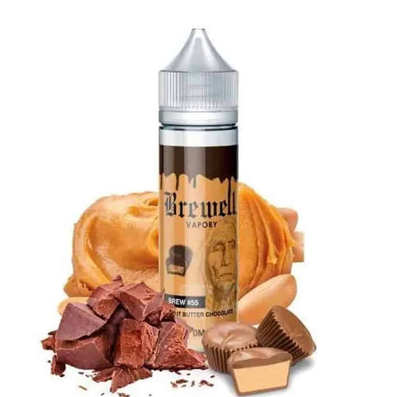 Peanut Butter Chocolate E Liquid 60ml by Brewell