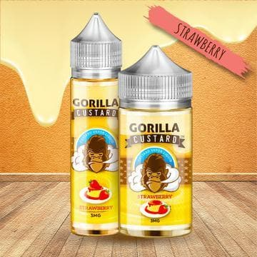 Gorilla Custard Strawberry E Liquid by E&B Flavor Abu Dhabi, Al Ain Sharjah UAE, Saudi Arabia KSA