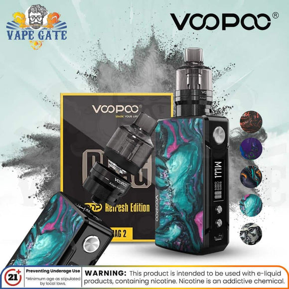 Voopoo Drag 2 Kit PNP Refresh Edition 177W ABU DHABI DUBAI KSA