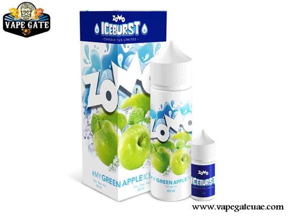 Green Apple Ice 60ml E liquid by Zomo Abu Dhabi & Dubai Vape Expo 2020 UAE, Ras Al Khaima