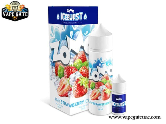 Strawberry Ice 60ml E liquid by Zomo Abu Dhabi & Dubai UAE, Vape Expo 2020