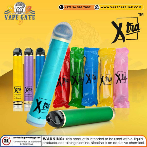 XTRA Twist Disposable Vaporiser -  with adjustable airflow ABU DHABI DUABI UAE