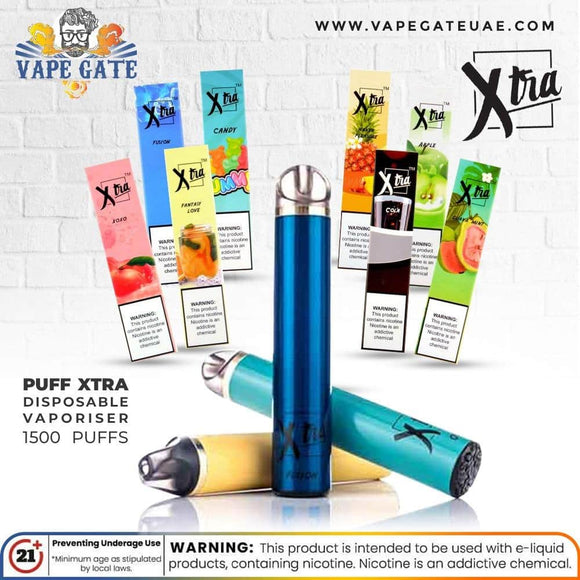 PUFF XTRA Disposable Vaporiser - 1500 puffs  Dubai & ABu Dhabi UAE