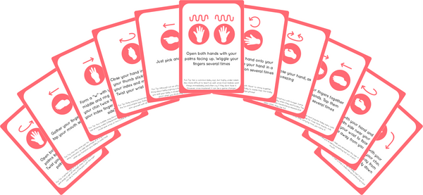 Baby Sign Language Flash Cards Fanned Out