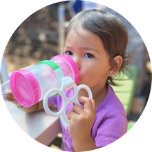 Load image into Gallery viewer, Toddler using Bottle Grabbies