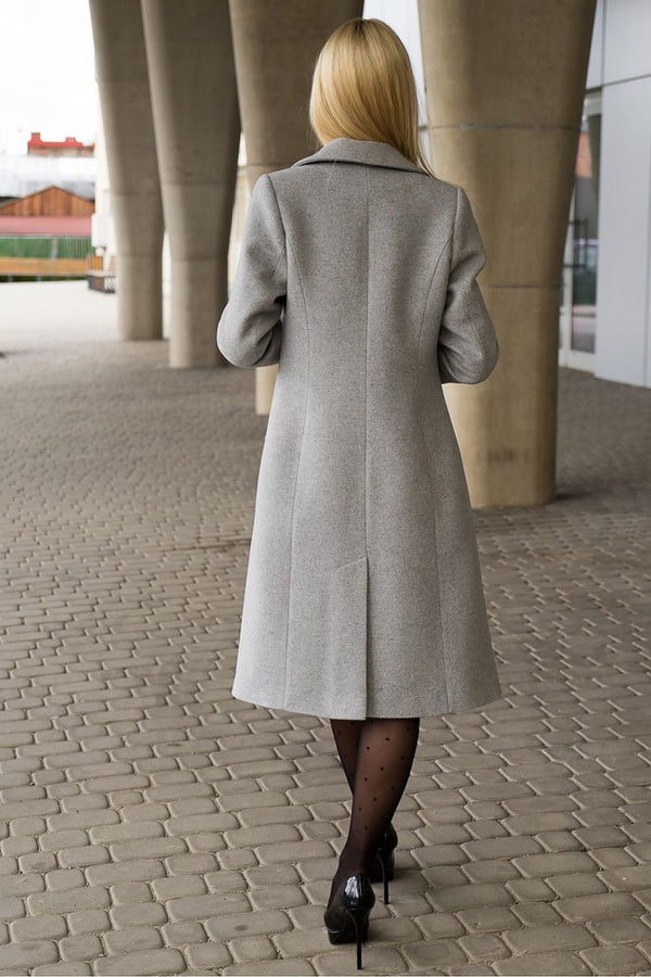 Classic Knee-Length Coat by Mattire